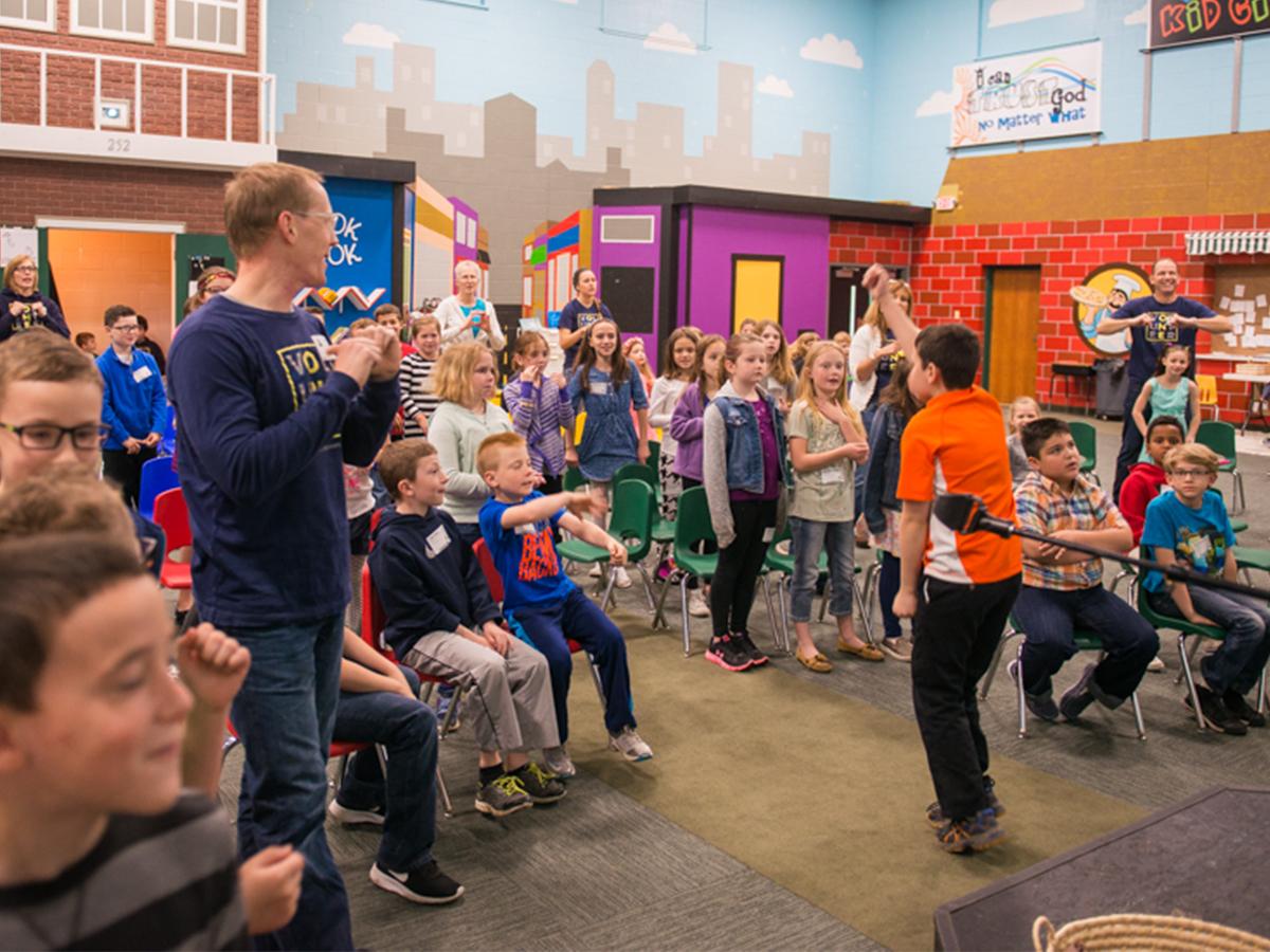 Elementary worship service